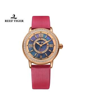 爱之心 承诺 玫瑰金 钻石石英女表 奢华时尚女表 RGA1563-PBBD