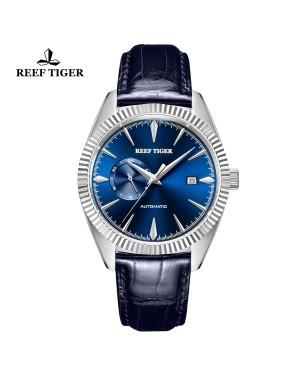 西雅图 猎户座 精钢 时尚男表 蓝色表盘 防水丝滑真皮表带 RGA1616-YLL