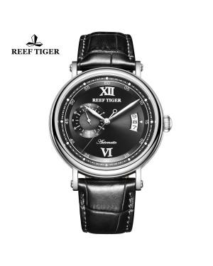 西雅图 Sander 精钢 黑色表盘 黑色防水丝滑真皮表带 时尚男表 RGA1617-2-YBB