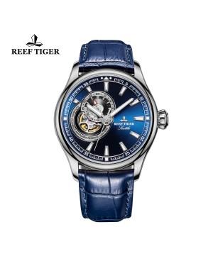 西雅图 海鹰 蓝色表盘 夜光腕表 男士正装手表 RGA1639-YLL