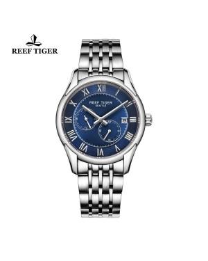 西雅图 时间愿景 男士精钢腕表 蓝色表盘 时尚商务表 RGA165-YLY