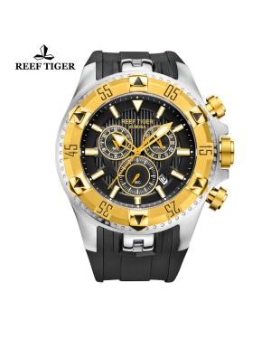极光 Hercules 黄金 黑色字面 计时男士表 RGA303-GBB