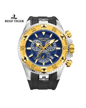 极光 Hercules 黄金 蓝色字面 计时男士表 RGA303-GLB