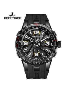 极光 涡轮 黑色表盘 休闲运动表 时尚男士腕表  RGA3059-BBB