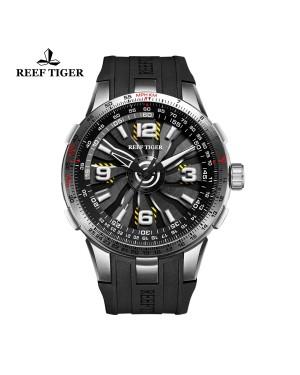 极光 涡轮 黑色表盘 男士休闲表 时尚运动腕表RGA3059-YBB