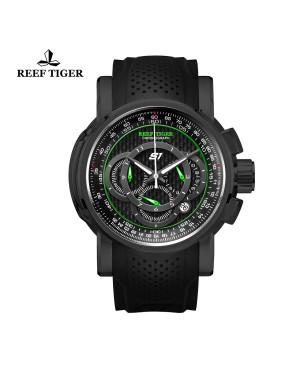 极光 极速 黑钢 夜光赛车表 运动男士腕表 RGA3063-BNB
