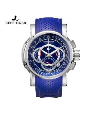 极光 极速 精钢蓝面 赛车表 运动男士腕表 RGA3063-YLL