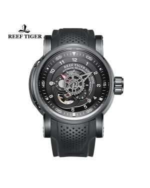 极光 机械师 PVD 黑色表盘 时尚休闲表 运动男士腕表 RGA30S7-BBB