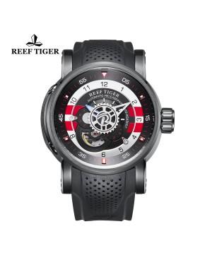 极光 机械师 PVD 黑/白/红色表盘 时尚休闲表 运动男士腕表 RGA30S7-BBBR