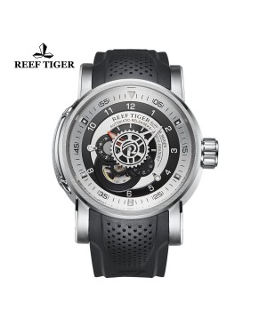 极光 机械师 精钢 黑/白色表盘 时尚休闲表 运动男士腕表 RGA30S7-YSB