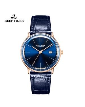经典 传奇 玫瑰金表壳 蓝色表盘 男士腕表 RGA8215-PLL
