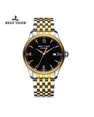 经典 传世 黄金表圈 双色表带 超薄男士腕表 RGA823-TBT