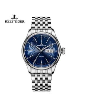 经典 传世 II 蓝色表盘 精钢表带 日历星期商务男表 RGA8232-YLY