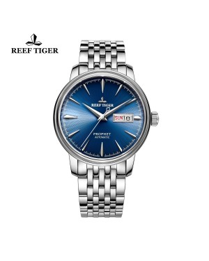 经典 预言家 精钢表壳 蓝色表盘 男士商务表 时尚休闲腕表 RGA8236-YLY
