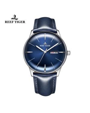 经典 传承  精钢 蓝色表盘 牛皮表带 时尚男士腕表 RGA8238-YLLH