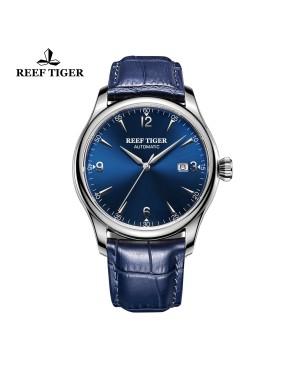 经典 传世 精钢 蓝色表盘 牛皮表带 男士腕表 RGA823G-YLL