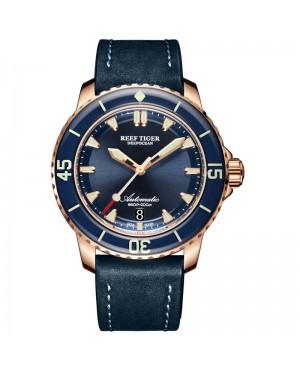 极光 深海 精钢 蓝色表盘 超级夜光 潜水男士运动腕表 RGA3035-PLL-