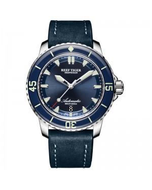 极光 深海 精钢 蓝色表盘 超级夜光 潜水男士运动腕表 RGA3035-YLL-
