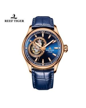 西雅图 海鹰 蓝色表盘 夜光腕表 镂空男士手表 RGA1639-PLL