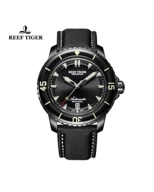 极光 深海 黑钢 超级夜光 潜水男士运动腕表 RGA3035-BBBW