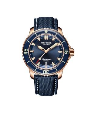 极光 深海 玫瑰金 超级夜光 蓝色表盘 潜水男士运动腕表 RGA3035-PLL