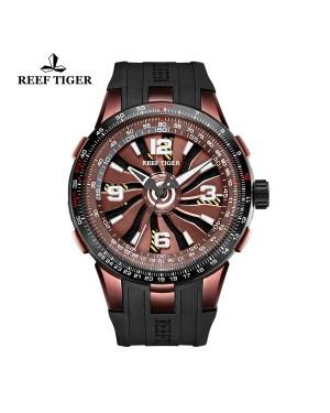 极光 涡轮 棕色表盘 时尚休闲表 运动男士腕表  RGA3059-BSB
