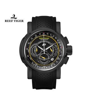 极光 极速 黑钢 计时赛车表 运动男士腕表 RGA3063-BGB