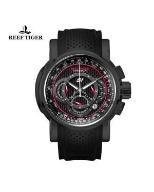 极光 极速 黑钢 计时赛车表 运动男士腕表 RGA3063-BRB