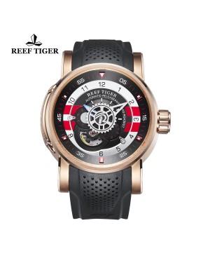 极光 机械师 玫瑰金 黑/白/红色表盘 时尚休闲表 运动男士腕表 RGA30S7-PBBR