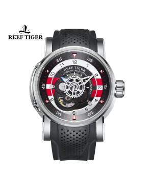 极光 机械师 精钢 黑/白/红色表盘 时尚休闲表 运动男士腕表 RGA30S7-YBBR