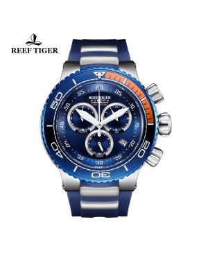 极光 大洋 精钢表壳  蓝色大表盘 运动计时男表 RGA3168-YLL