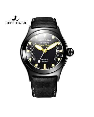 极光 海洋 PVD 黑色表圈 棕色/黑色 皮带 男士腕表 RGA704-BBBG