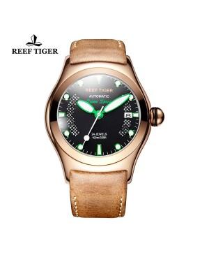 极光 海洋 玫瑰金 绿色刻度 自动上链机芯 腕表 RGA704-PBBN