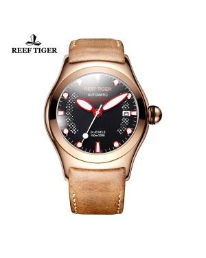 极光 海洋 玫瑰金 红色刻度 自动上链机芯 瑞士手表 RGA704-PBBR