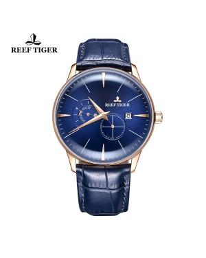 经典 工匠 玫瑰金表壳 蓝色表盘 男士腕表 RGA8219-PLL