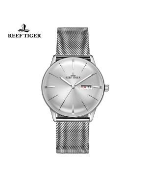 经典 传承 精钢 白色表盘 时尚男士腕表 RGA8238-YWY