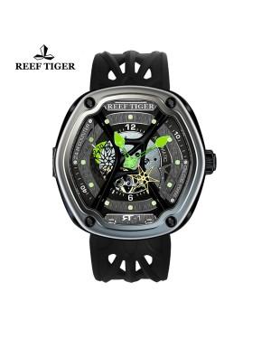 极光 盖亚光芒 绿针胶带 超级夜光镂空腕表 RGA90S7-TSBR